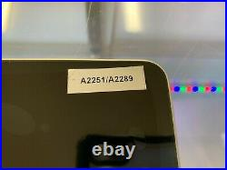 Apple MacBook Pro 13.3 LCD Screen Full Display Assembly A2251 A2289 2020 Silver