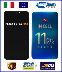 DISPLAY LCD Schermo Vetro Per iPhone 11 Pro MAX Originale ZY Touch Screen NERO