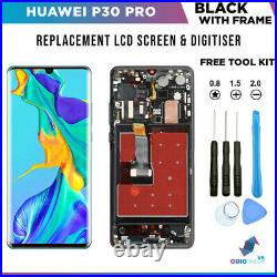 For Huawei P30 Pro Replacement Display Touch Screen LCD VOG-L09 L29 With Frame