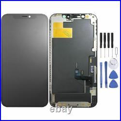 Für Apple iPhone 12 / 12 Pro 6.1 Display Full OLED LCD Screen Ersatz Schwarz